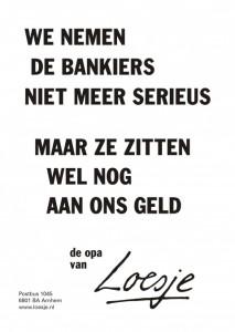 Loesje poster bankiers