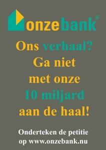 De poster van Onze Bank.