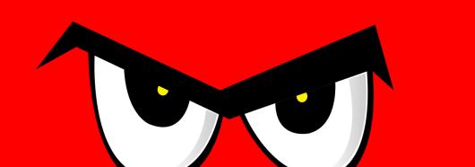 Woede, icoon -uitsnede