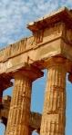 Ruïne Griekse tempel -uitsnede