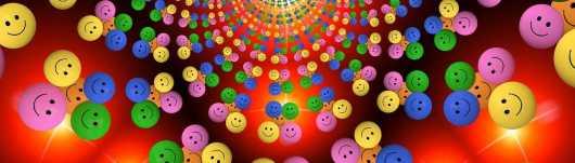 Smileys met gulden snede -uitsnede