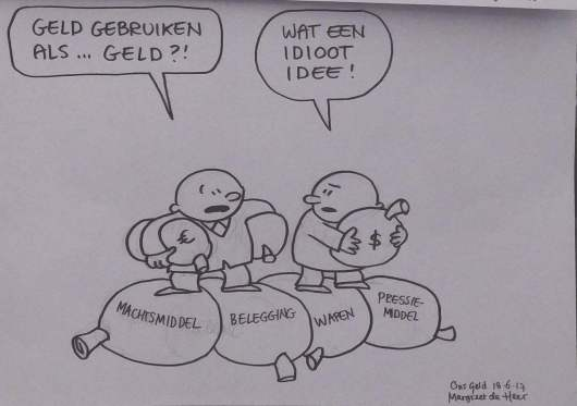 Cartoon geld als geld